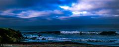 Cambria Color III (PJ Resnick) Tags: ocean california blue sunset sky orange cloud