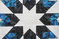 Star of the West (StaceyinStitches) Tags: motion west niemeyer paper star pattern quilt feather free quilting lone judy lonestar timeless treasures pieced