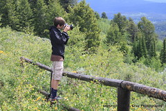 My Boy Has Caught the Photography Bug (ericcubs) Tags: camera travel yellow canon eric yellowstonenationalpark yellowstone wyoming grandtetonnationalpark jacksonwyoming t1i ericcubs
