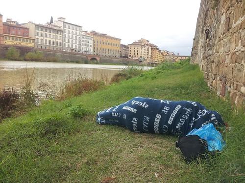 On dort où on peut... Florence, Italie