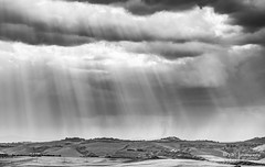 Val d'Orcia Rays (bryanfisherphoto) Tags: light italy sun white storm black clouds contrast italia honeymoon shine gray hills val tuscany fields rays toscana valdorcia shining valleys dorcia
