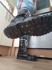 Boots Ranger where you should be (collaredinboots1) Tags: boots booted rangerboots bleachers braces skinhead