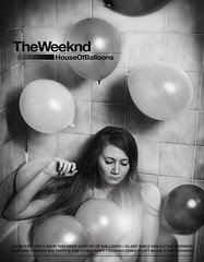 Xo Girl (Ra1nb0wm0nst3r) Tags: xo weeknd tillweoverdose portrait hourse balloons echoes silence fanart fan art music rnb mtl montreal bnw bw