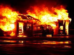 success (resourcehfh) Tags: display fire flames reflection structures transportation van water phoenixfireacademy phoenix arizona walterpater f828 unitedstates