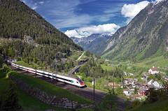 ICN 877 @ Wassen (Wesley van Drongelen) Tags: sbb cff ffs schweizerische bundesbahnen chemins de fer fdraux federaux suisses ferrovie federali svizzere swiss federal railways rabde 500 icn intercity neigezug wassen trein train zug treno