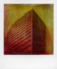 Battersea, repainted, 2016. 'Roid Week Day 2, No. 2 (Rhiannon Adam) Tags: roidweek polaroidweek instantfilm manipulated painted battersea london urban industrial analogue staypoorshootfilm