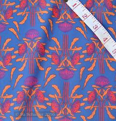'Waratahs on mid-blue': on basic cotton (Su_G) Tags: waratah waratahs waratahflower australianwildflower australiana australia sug spoonflower swatch basiccottonultra artnouveau bright lucienhenry