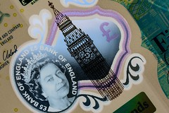 Macro Mondays - Backlit (that Geoff...) Tags: macro mondays backlit 5 fiver note banknote big ben queen currency sterling plastic canon 70d british great britain gb uk united kingdom