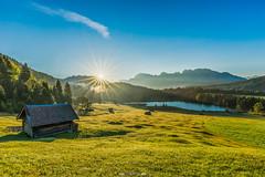 Sonnenaufgang am Geroldsee (F!o) Tags: geroldsee garmisch krn wallgau bayern bavaria germany alpen alps berge mountains sunet sunset sonnenaufgang sunrise sea lake sunstar canon sony a7ii sonnenstern blendenstern buckelwiesen