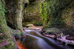 The Devil's Pulpit (_Shak_) Tags: longexposure finnichglen scotland burn stirlingshire brook devilspulpit stream river
