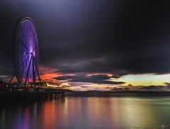 Color Palette (ashpmk) Tags: sunset sunsetsky wheel seattle sky skycolors reflections eveningcolors beautifulsunset washington washingtonstate