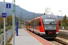 National railway operator (MAV) passenger service arriving at Aquincum felso Halting (Albert Lugosi) Tags: acquincum budapest hungary train mav desiro