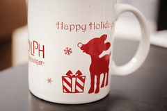 xmas (julietkitz) Tags: winter deer red white warm warmtones mug tea presents table