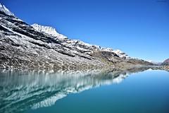 Lago Bianco (f4phantom@live.it) Tags: lago bianco lake landscape swiss bernina tirano express treno rosso trenino svizzera acqua specchio cielo azzurro