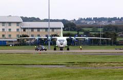 UR-KDM. (aitch tee) Tags: 4engine cardiffairport transport aircraft antonov an12 cavokair urkdm cwlegff maesawyrcaerdydd walesuk