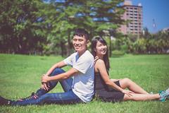 IMG_0244 (Kevin---007) Tags: couple cat pard green grass por portrait