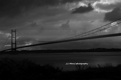The Humber bridge. ((c) MAMF photography..) Tags: britain blackandwhite blackwhite bw biancoenero beauty bridge blancoynegro blanco blancoenero river riverhumber clouds dark england enblancoynegro eastyorkshire flickrcom flickr google googleimages gb greatbritain greatphotographers greatphoto hull humber inbiancoenero image mamfphotography mamf monochrome motionblur imageblur nikon noiretblanc noir negro north nikond7100 northernengland october photography photo pretoebranco traffic uk unitedkingdom upnorth variablendfilter water wet yorkshire zwartenwit zwartwit zwart