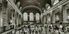 Grand Central Terminal B&W, HDR (sapere18) Tags: 2016 grandcentralterminal hdr manhattan newyork november autumn blackandwhite