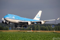 KLM --- Boeing 747-400 --- PH-BFL (Drinu C) Tags: adrianciliaphotography sony dsc hx100v ams eham plane aircraft aviation klm boeing 747400 phbfl 747