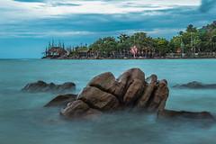 Secret Beach Koh Phangan - Mystic Sea (MartinUltsch) Tags: thailand phangan mystic insel beach secretbeach blur bar ocean cloudy felsinderbrandung backpacker taketime flow littlethingsarebeautiful