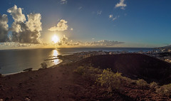 View from a small Volcano (Fotodave42) Tags: tenerife sunset montanachayofita omdem10 cmount8mmf38fisheye