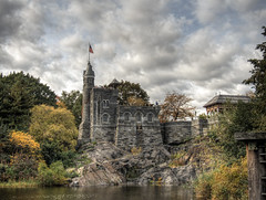 Belvedere Castle in Central Park NYC (neilalderney123) Tags: 2016neilhoward nyc usa belevedere castle lake centralpark olympus water turtle