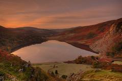 Morning Mirror (darek_gruszka) Tags: ireland wicklow lake reflection sunrise guinness