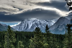 Head in the clouds (virgil martin) Tags: mountains landscape peterlougheedprovincialpark alberta canada panasoniclumixfz1000 oloneo gimp