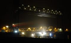 Klappbrücke Huntebrück (H - D - O) Tags: night water river bridge light lowlight liftbridge drawbridge