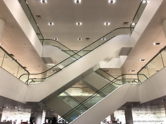 """Intersection escalators..."" (Dirk van der Veen) Tags: iphone escalator movingstaircase enschede"