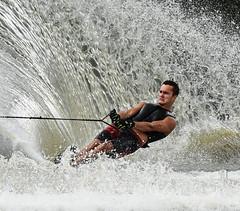 Raw! (photo by marko) Tags: waterskiing waterskier waterski water swerve spray sport speed slalom skiing skiable ski reflection photobymarko nikon nikkor naturallight 70200vrii 70200f28vrii 70200f28 7020028 70200 70200f28vr 2016 d500 adrenaline waterskiphotography lifeofawaterskier lessropemorebuoys morebuoyslessrope carvediem tompoole gosfield gosfieldlakes britishnationals nationals luminar