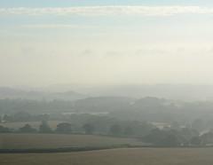 August Morning (Simon Verrall) Tags: august 2016 bepton beptondown westsussex fields midhurst harvest mist morning sky horizon uk simonverrall farm southdowns