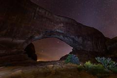 North Window at Night (m e a n d e r i n g s) Tags: northwindow archesnationalpark utah moab arch nightscape