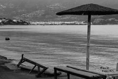 Black&White (Marios Krokidis) Tags: blackandwhite volos greece bay beach sea seascapes city chairs