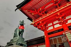 Fushimi Inari Shrine. Inari Kitsune.  Glenn E Waters. Japan 2016. (Glenn Waters in Japan.) Tags: fushimiinarishrine kyoto japan glennwaters fox inarikitsune