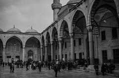 Sultanahmet Mosque/Blue Mosque (mazharserdar) Tags: istanbul minaret turkey travel türkiye ottomanarchitecture architecture cami sultanahmet sultanahmetmosque bluemosque mosque dome revak avlu