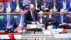 2016 1123 011 (PLX100) Philip Hammond; Autumn Statement (BBC2) (Lucy Melford) Tags: panasoniclx100 parliament houseofcommons autumnstatement chancellor