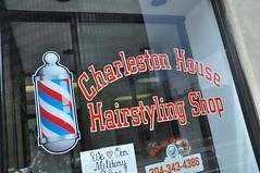 Buzz Cuts (cmu chem prof) Tags: charleston kanawhacounty westvirginia downtown window barbershop hairsalon storefront