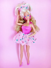 1988 Style Magic Barbie Doll #1283 (The Barbie Room) Tags: 1988 style magic barbie doll 1283 1980s 80s pink curl wonder hair bubble dress swimsuit model