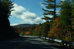 """This is the """"Gap Vista Scenery"""" along the Kanc - IMGP6617 (catchesthelight) Tags: northernnewengland nh nature mountains thekanc misspelled kangamangushighway kangamagushighway mustsee constructed 1959 traveled overamillionpeopleeachyear thekancamagushighway 34mileeastwestchannel 800000acre whitemountainnationalforest lincolnnhtoconwaynh trees change leaves summergreens breathtaking shadesofyellow red fall illuminated colorful dramatic enjoyable leafpeepingroute"""