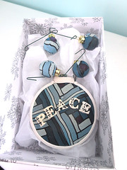 peace ornament 2016 (playsculptlive) Tags: pcagoe polymerclay xmasornament
