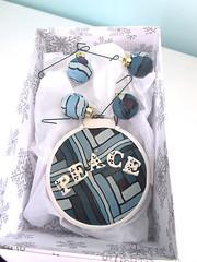 peace ornament 2016 (playsculptlive) Tags: pcagoe polymerclay xmasornament