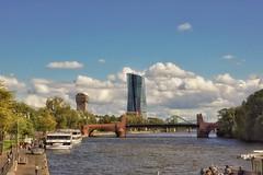 Frankfurt am Main... (hobbit68) Tags: wasser frankfurt main ezb sky himmel wolken clouds
