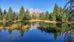 Schwabacher's Landing Reflection (LG G4) (Jeffrey Sullivan) Tags: lg g4 mobile phone camera images smartphone cellphone california usa photo copyright 2015 jeff sullivan september road trip jackson lake reflection grand teton national park
