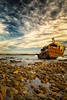 wreck3 (WITHIN the FRAME Photography(5 Million views tha) Tags: shipwreck southafrica landscape details rocks boulders sky clouds sunset lowtide lowlight abandoned fuji fujinon xt1 meishumaro historical
