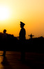 Sunset Soldier (Hairball9) Tags: guard soldier military sunset silhouette china bejing tiananmensquare