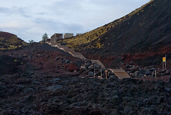 Black earth (LynxDaemon) Tags: volcano black earth red stairs warm acores azores portugal