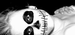 IMG_0833_2 (color-less) Tags: shadow portrait blackandwhite bw woman nude death licht akt blond highkey frau drama schwarz