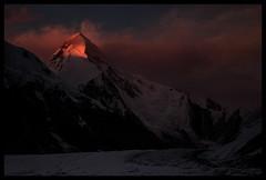 Sunset on Khan Tengri (6995m) (doug k of sky) Tags: republic doug tian glacier khan kyrgyz shan range tien tengri inylchek mountainscapes engilchek kyrgyzsan kofsky