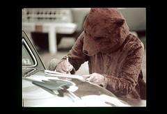 ss13-39 (ndpa / s. lundeen, archivist) Tags: bear color film car southdakota blackhills 1971 costume automobile nick slide slideshow 1970s deadwood americanwest dewolf westernus nickdewolf photographbynickdewolf slideshow13